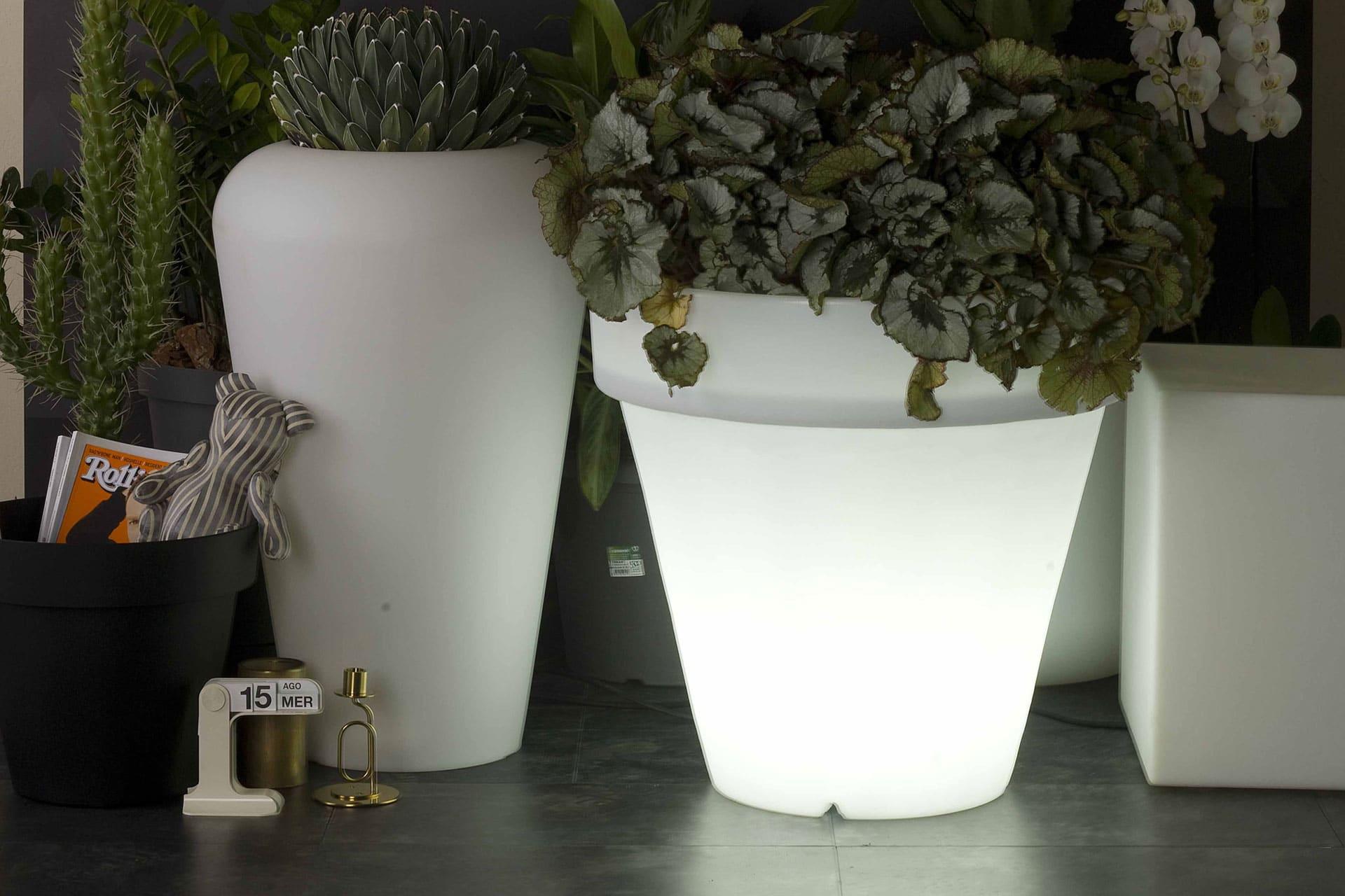Plastecnic vaso luce